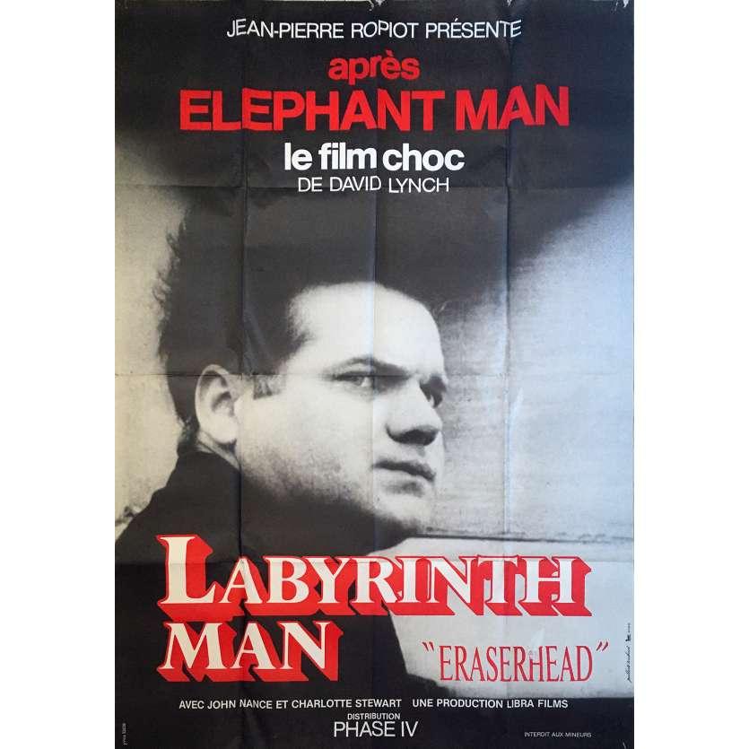ERASERHEAD Original Movie Poster - 47x63 in. - 1977 - David Lynch, Jack Nance