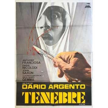 TENEBRE Original Movie Poster - 29x40 in. - 1982 - Dario Argento, John Saxon