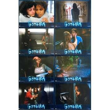 GOTHIKA Original Lobby Cards x8 - 9x12 in. - 2003 - Mathieu Kassovitz, Halle Berry