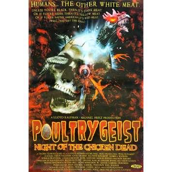POULTRYGEIST : NIGHT OF THE CHICKEN DEAD Original Movie Poster - 27x40 in. - 2006 - Lloyd Kaufman, Jason Yachanin