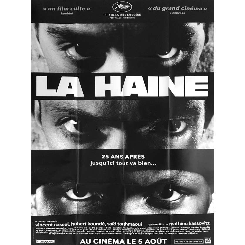 "HATE French Movie Poster - 47x63"" - 2020 - Vincent Cassel, Mathieu Kassovitz"