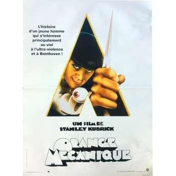 ORANGE MECANIQUE Affiche de film - 40x60 cm. - R1990 - Malcom McDowell, Stanley Kubrick