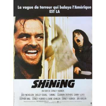 THE SHINING Original Movie Poster - 15x21 in. - R1990 - Stanley Kubrick, Jack Nicholson