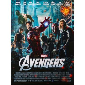 THE AVENGERS Original Movie Poster - 15x21 in. - 2012 - Joss Whedon, Robert Downey Jr.
