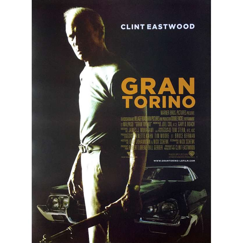 GRAN TORINO French Movie Poster 15x21- 2008 - Clint Eastwood, Clint Eastwood