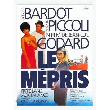 CONTEMPT Original Movie Poster - 15x21 in. - R2000 - Jean-Luc Godard, Brigitte Bardot