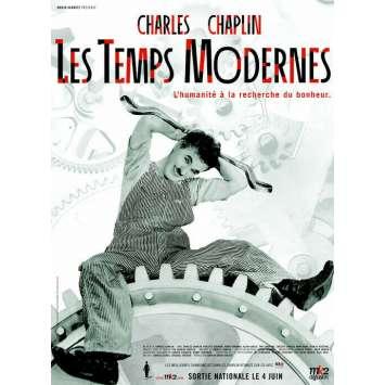 MODERN TIMES Original Movie Poster - 15x21 in. - R2000 - Charles Chaplin, Paulette Goddard,