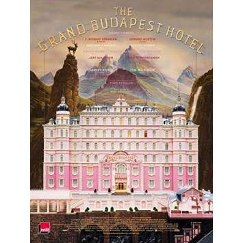 GRAND BUDAPEST HOTEL Original Movie Poster - 15x21 in. - 2014 - Wes Anderson, Ralph Fiennes