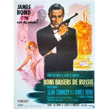 FROM RUSSIA WITH LOVE Movie Poster - 15x21 in. - R1990 - Restrike - Terence Young, Sean Connery
