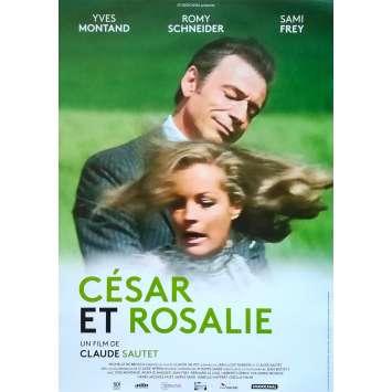 CESAR ET ROSALIE Affiche de film - 40x60 cm. - R2000 - Yves Montand, Claude Sautet