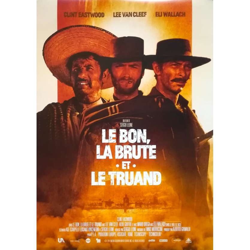 THE GOOD THE BAD AND THE UGLY Movie Poster - 15x21 in. - R2010 - - Sergio Leone, Clint Eastwood
