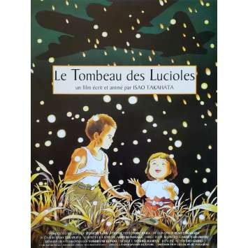 LE TOMBEAU DES LUCIOLES Affiche de film - 40x60 cm. - 1988 - Tsutomu Tatsumi, Isao Takahata