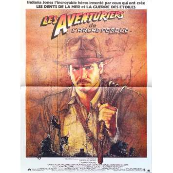 RAIDERS OF THE LOST ARK Movie Poster - 15x21 in. - R1990 - Restrike - Steven Spielberg, Harrison Ford