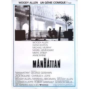 MANHATTAN Movie Poster - 15x21 in. - R1990 - Restrike - Woody Allen, Diane Keaton