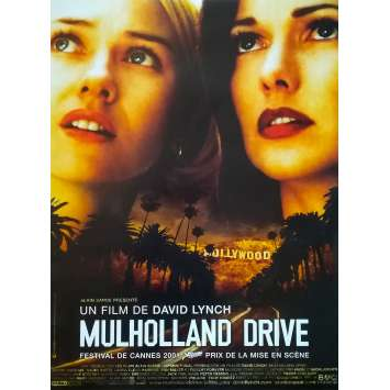 MULHOLLAND DR Movie Poster - 15x21 in. - 2001 - - David Lynch, Naomi Watts