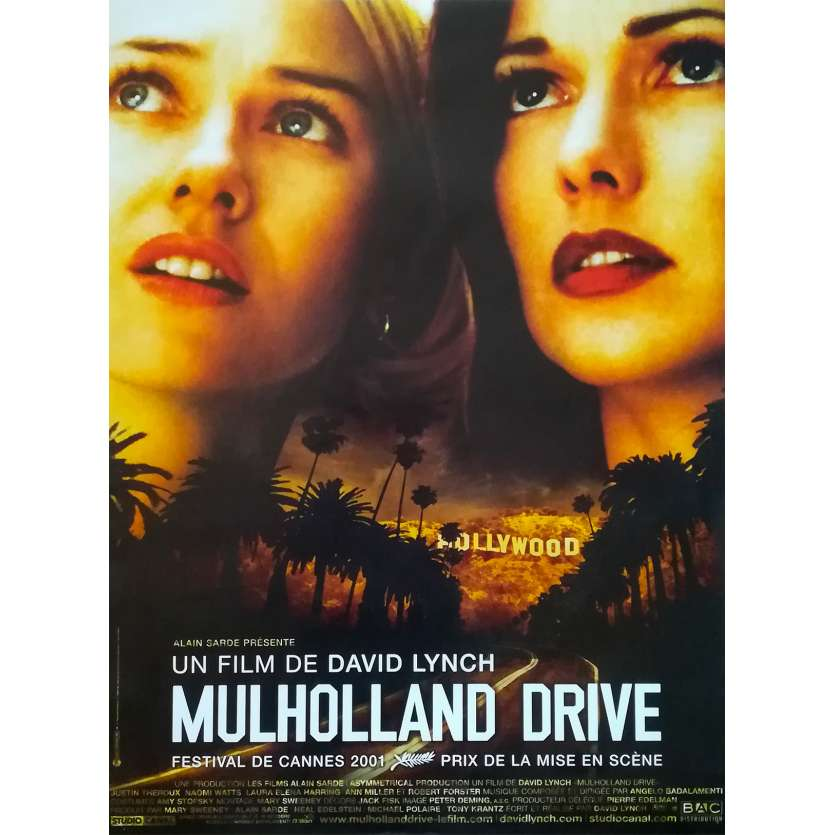 MULHOLLAND DR Movie Poster - 15x21 in. - 2001 - - David Lynch, Naomi Watts