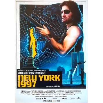 NEW-YORK 1997 Affiche de film - 40x60 cm. - R2010 - Kurt Russel, John Carpenter