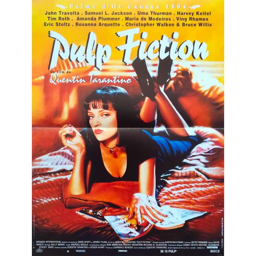 PULP FICTION Movie Poster - 15x21 in. - R2000 - Restrike - Quentin Tarantino, Uma Thurman