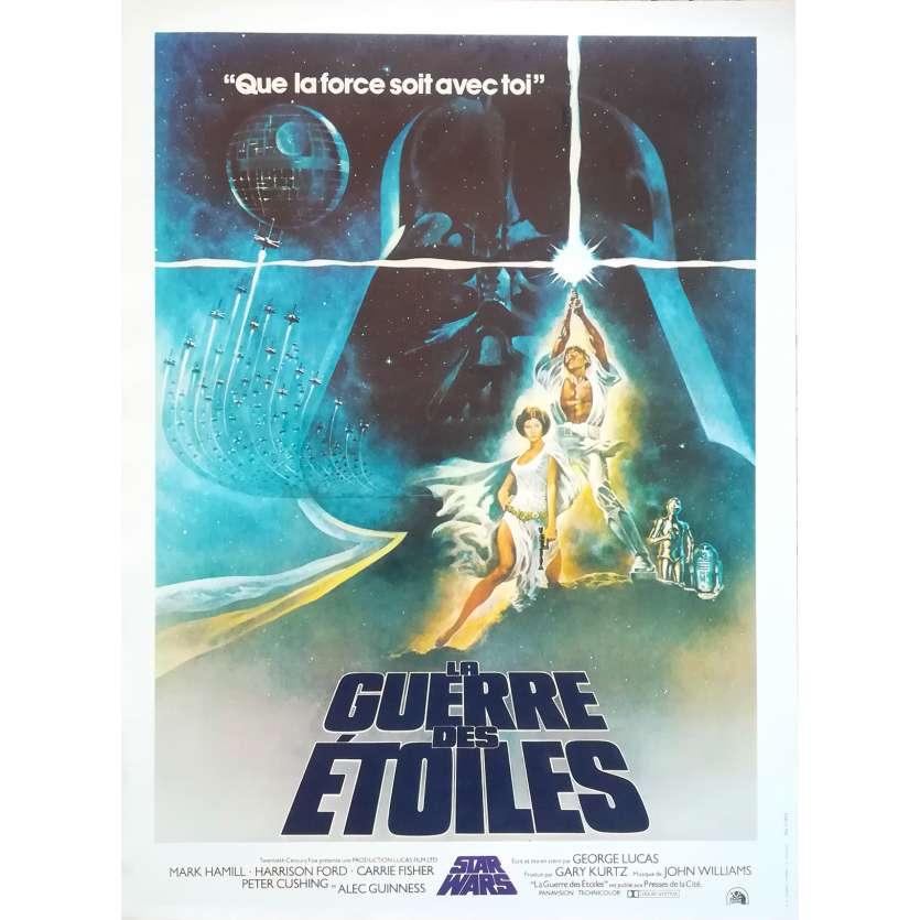 STAR WARS - LA GUERRE DES ETOILES Affiche de film - 40x60 cm. - R2000 - Harrison Ford, George Lucas