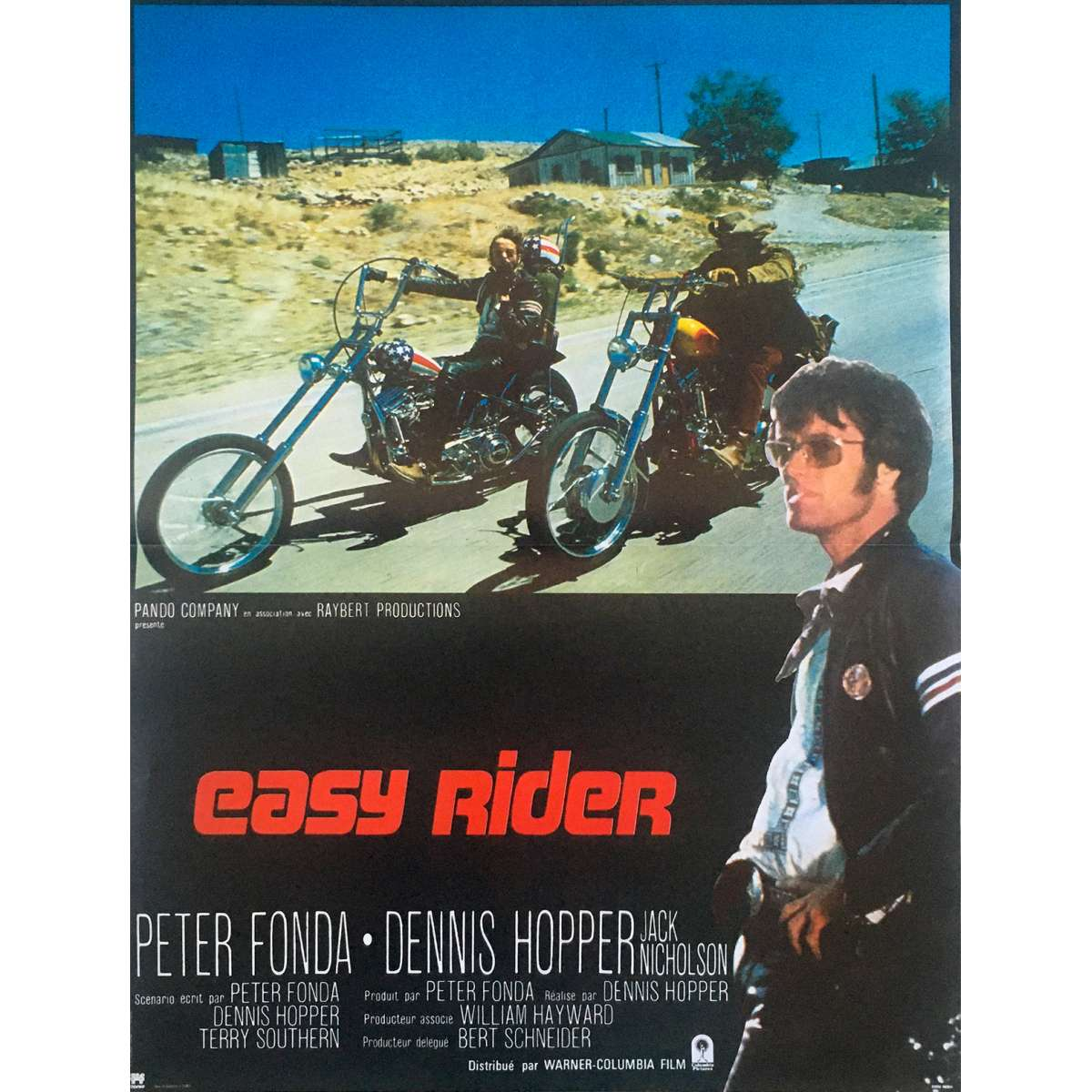 Affiche de cinéma Française de EASY RIDER