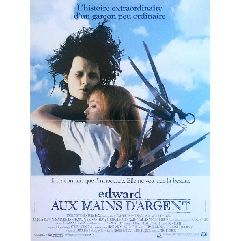 EDWARD SCISSORHANDS Movie Poster - 15x21 in. - R2000 - Restrike - Tim Burton, Johnny Depp