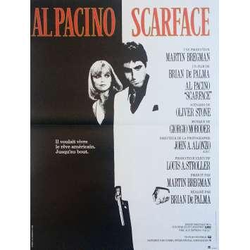 SCARFACE Movie Poster - 15x21 in. - R1990 - Restrike - Brian de Palma, Al Pacino