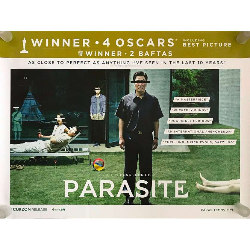 PARASITE - GISAENGCHUNG Original Movie Poster - 30x40 in. - 2019 - Bong Joon Ho, Kang-ho Song