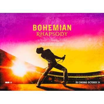 BOHEMIAN RHAPSODY Affiche de film - 76x102 cm. - 2018 - Rami Malek, Bryan Singer