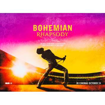 BOHEMIAN RHAPSODY Original Movie Poster - 30x40 in. - 2018 - Bryan Singer, Rami Malek