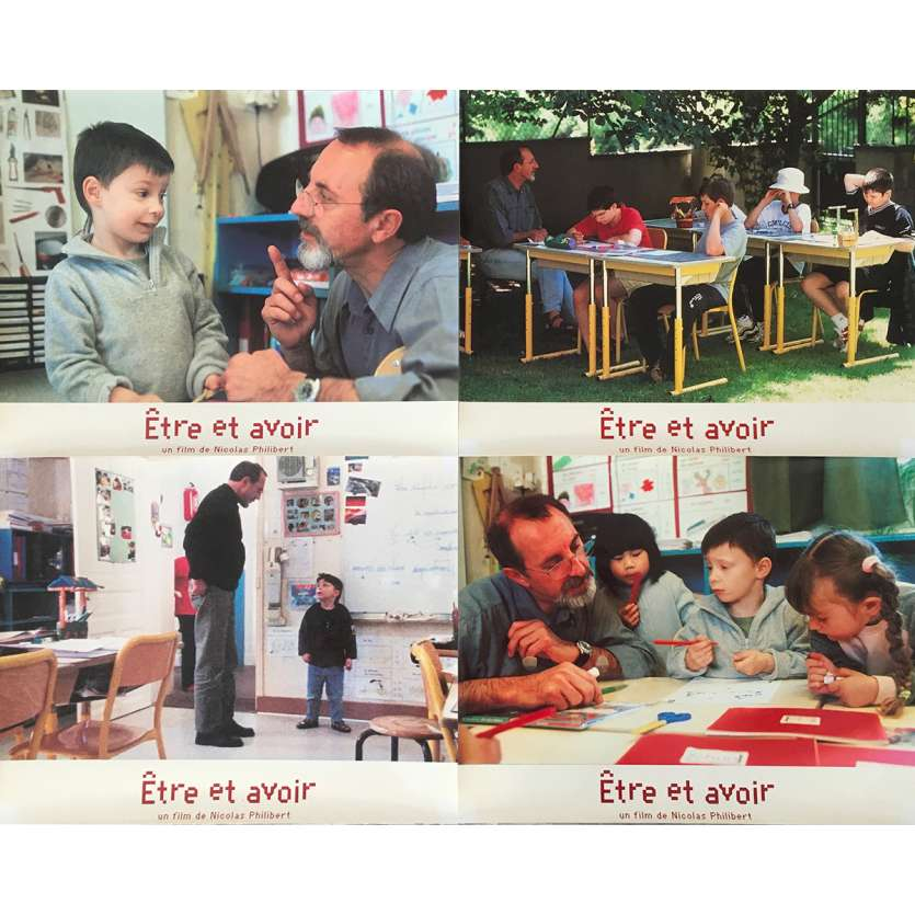 TO BE AND TO HAVE Original Lobby Cards - 9x12 in. - 2002 - Nicolas Philibert, Georges Lopez