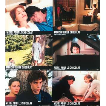 MERCI POUR LE CHOCOLAT Original Lobby Cards - 9x12 in. - 2000 - Claude Chabrol, Isabelle Huppert