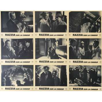 RAZZIA Original Lobby Cards - 9x12 in. - 1955 - Henri Decoin, Jean Gabin