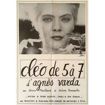CLEO FROM 5 TO 7 Original Movie Poster - 23x32 in. - 1962 - Agnès Varda, Corinne Marchand