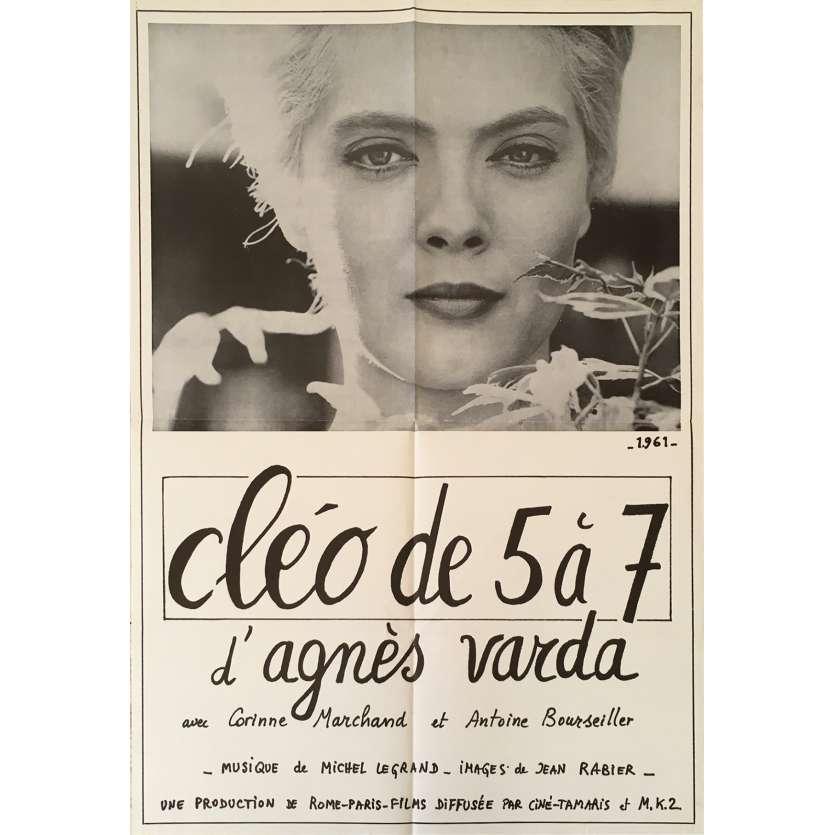 CLEO DE 5 A 7 Affiche de film - 60x80 cm. - 1962 - Corinne Marchand, Agnès Varda