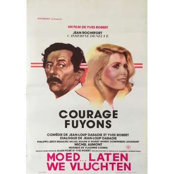 COURAGE LET'S RUN Original Movie Poster - 14x21 in. - 1979 - Yves Robert, Catherine Deneuve