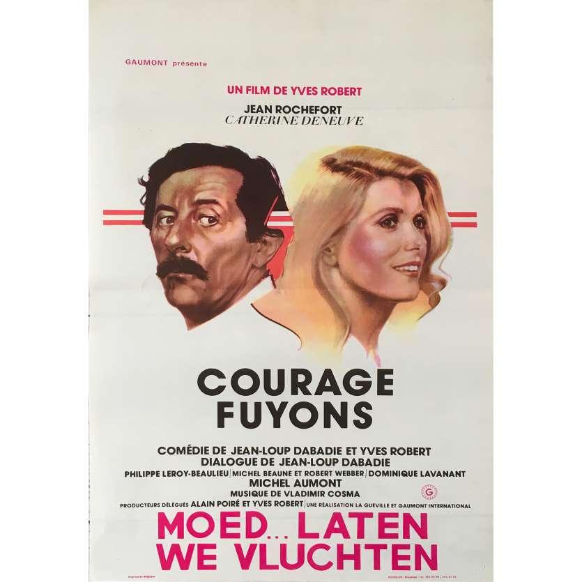 COURAGE FUYONS Affiche de film - 35x55 cm. - 1979 - Catherine Deneuve, Yves Robert