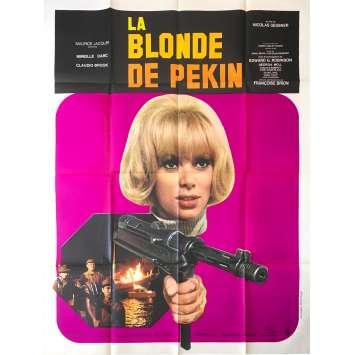 THE BLONDE FROM PEKING Original Movie Poster - 47x63 in. - 1967 - Nicolas Gessner, Mireille Darc