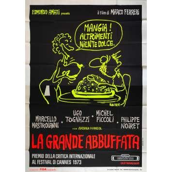 LA GRANDE BOUFFE Affiche de film - 140x200 cm. - 1973 - Marcello Mastroianni, Marco Ferreri