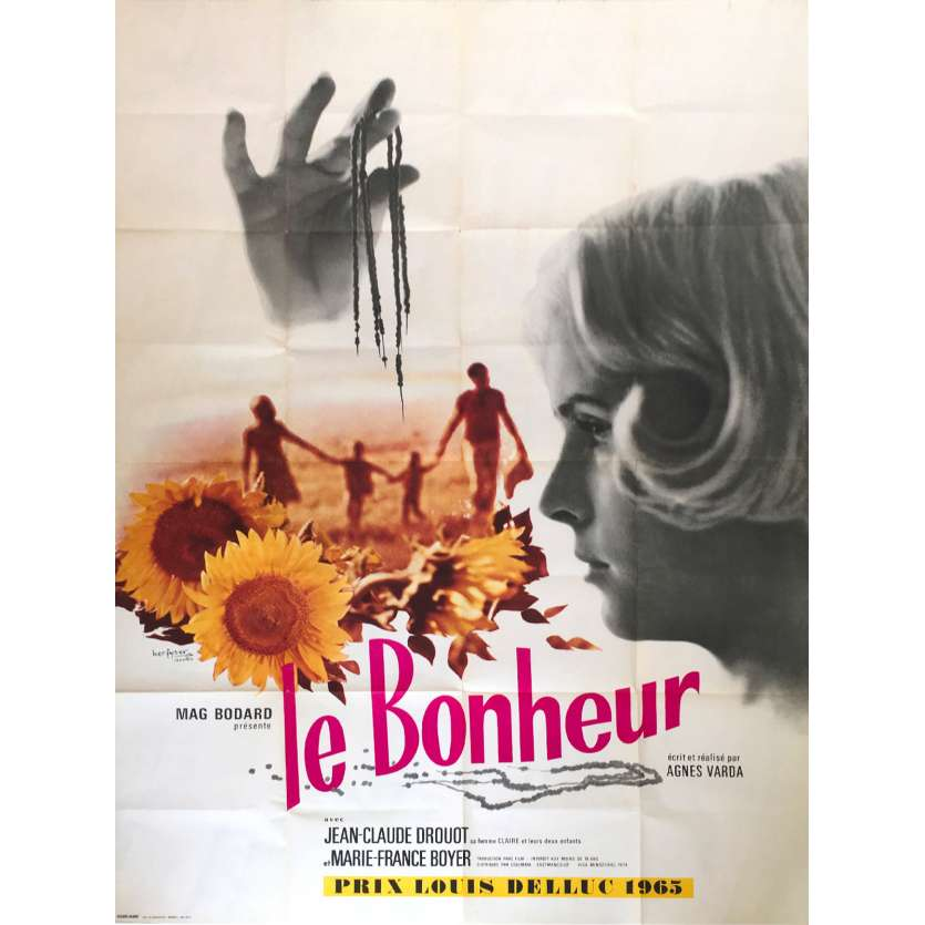 LE BONHEUR Original Movie Poster - 47x63 in. - 1967 - Agnès Varda, Jean-Claude Drouot