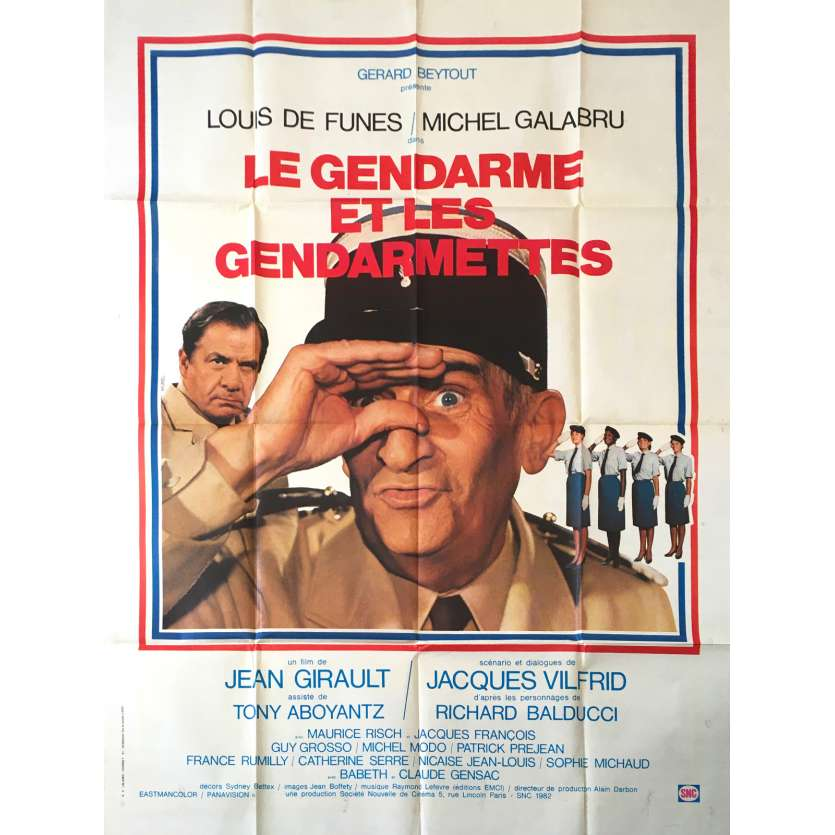THE TROOPS AND THE TROOP-ETTES Original Movie Poster - 47x63 in. - 1982 - Jean Girault, Louis de Funès