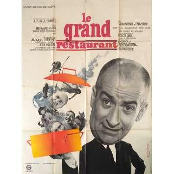 THE RESTAURANT Original Movie Poster - 47x63 in. - 1966 - Jacques Besnard, Louis de Funès