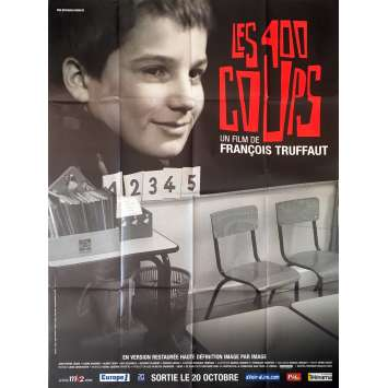 400 BLOWS Original Movie Poster - 47x63 in. - 1959 - François Truffaut, Jean-Pierre Léaud