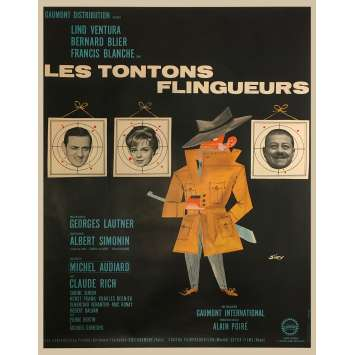 MONSIEUR GANGSTER Original Movie Poster - 47x63 in. - 1963 - Georges Lautner, Lino Ventura