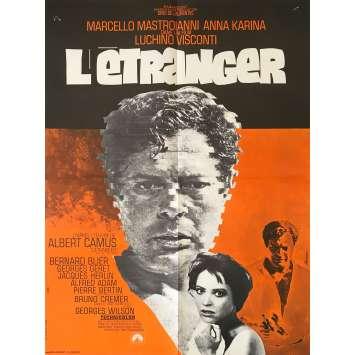 THE STRANGER Original Movie Poster - 23x32 in. - 1967 - Luchino Visconti, Marcello Mastroianni