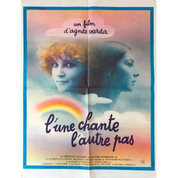 ONE SINGS THE OTHER DOESN'T Original Movie Poster - 23x32 in. - 1977 - Agnès Varda, Thérèse Liotard, Valérie Mairesse