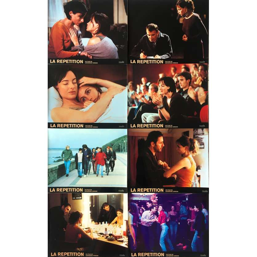 REPLAY French Lobby cards x8 9x12 - 2001 - Catherine Corsini, Emmanuelle Béart