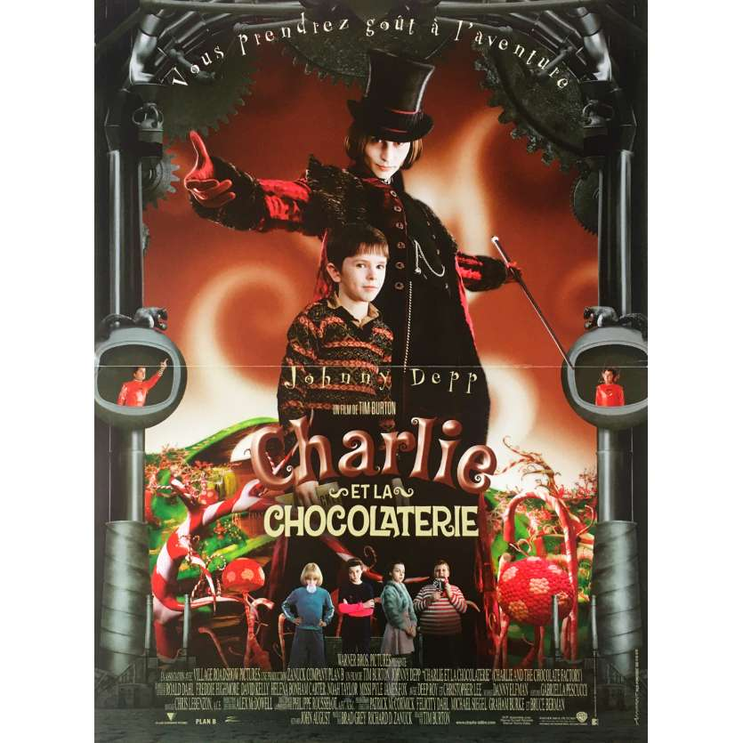CHARLIE AND THE CHOCOLATE FACTORY Original Movie Poster - 15x21 in. - 2005 - Tim Burton, Johnny Depp