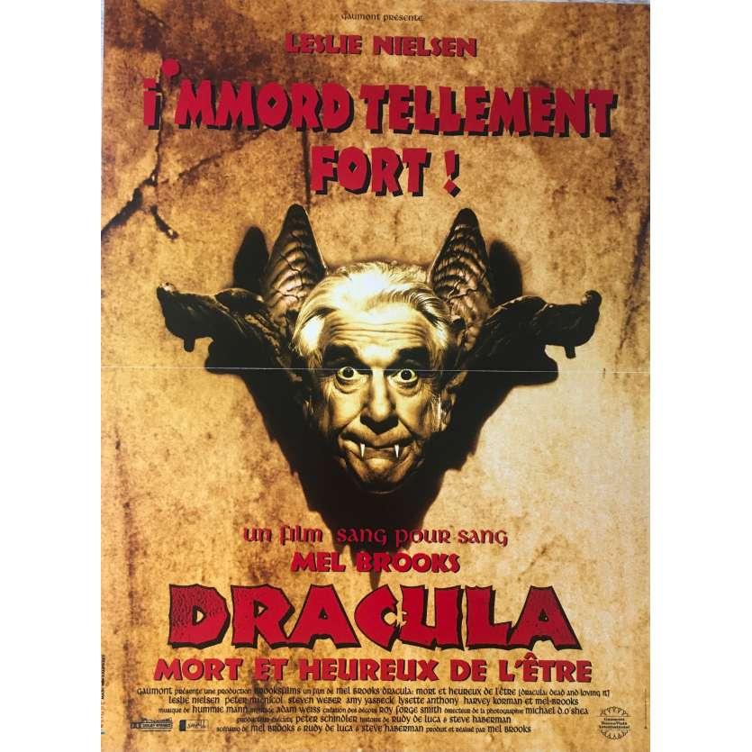DRACULA MORT ET HEUREUX DE L'ETRE Affiche de film - 40x60 cm. - 1995 - Leslie Nielsen, Mel Brooks
