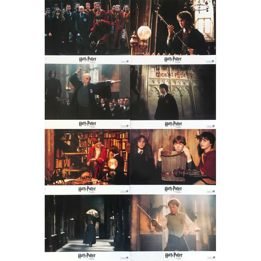 HARRY POTTER AND THE CHAMBER OF SECRETS Original Lobby Cards - 9x12 in. - 2002 - Chris Colombus, Daniel Radcliffe