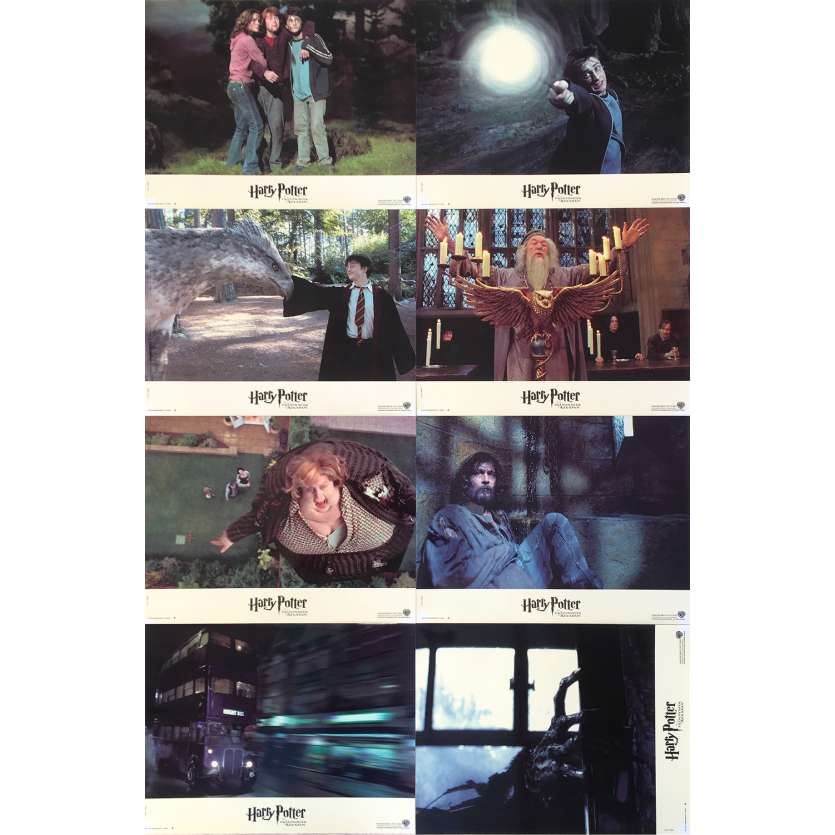 HARRY POTTER AND THE PRISONNER OF AZKABAN Original Lobby Cards - 9x12 in. - 2004 - Alfonso Cuaron, Daniel Radcliffe